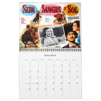 Mexican Movie Poster Wall Calendar 2017