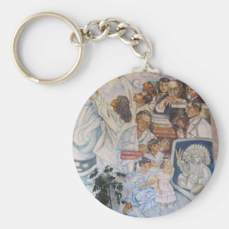 Mexican mural art keychain