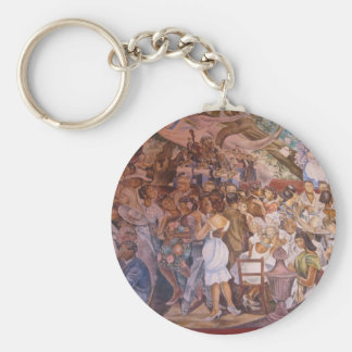 Mexican mural art keychains