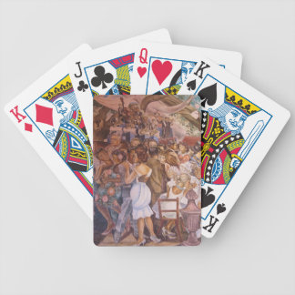 Mexican mural art bicycle playing cards