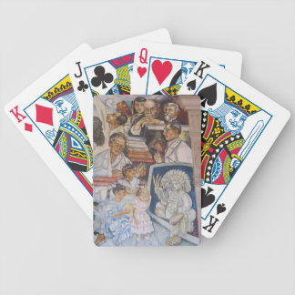Mexican mural art bicycle poker deck