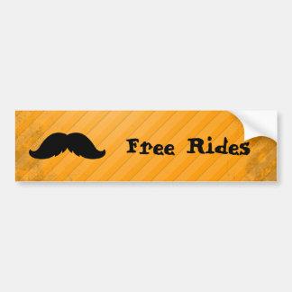 Mexican Mustache Car Bumper Sticker