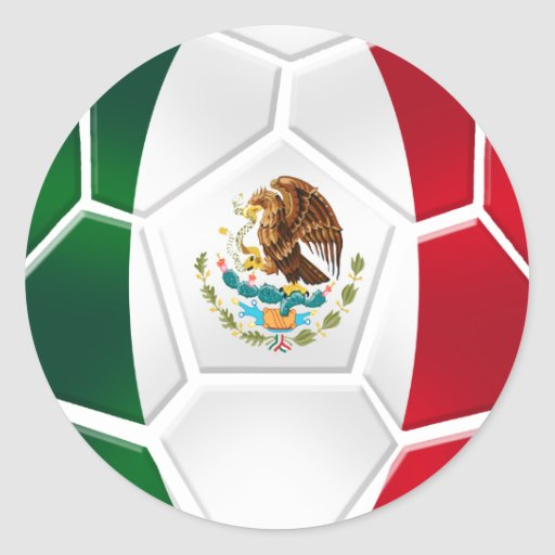 Mexican National football team fans futbol gifts Classic Round Sticker