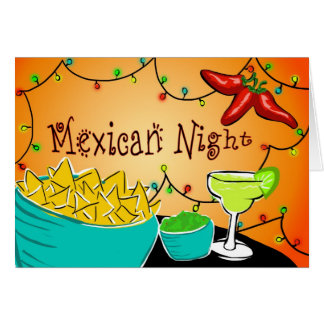 Mexican Night Card