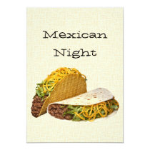 Mexican Night Invitation