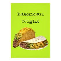 Mexican Night Invitation