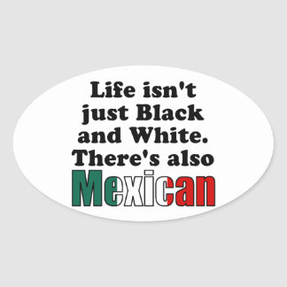 Mexican Oval Sticker
