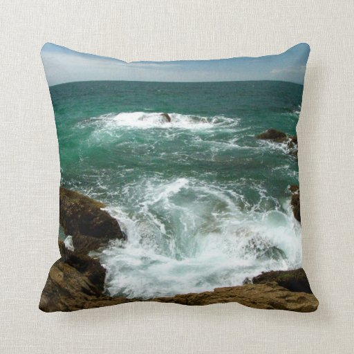 Mexican Pacific Surge; No Text Throw Pillow
