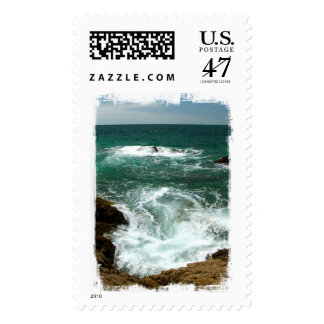 Mexican Pacific Surge; No Text Postage Stamp