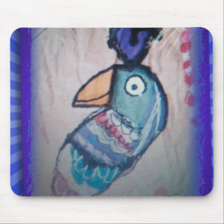 MEXICAN PARROT PAINTING MOUSE PAD