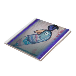 MEXICAN PARROT PAINTING CERAMIC TILES
