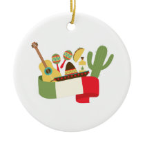 Mexican Party Ceramic Ornament