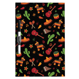 Mexican pattern dry erase boards