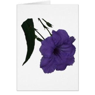 Mexican Petunia cutout flower Card