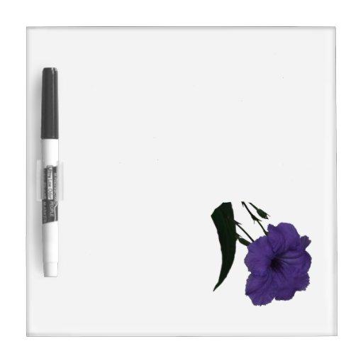 Mexican Petunia cutout flower Dry Erase Board