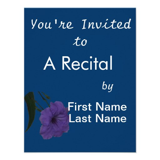 Mexican Petunia cutout flower Personalized Announcement