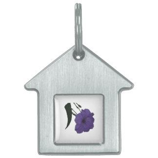 Mexican Petunia cutout flower Pet ID Tags
