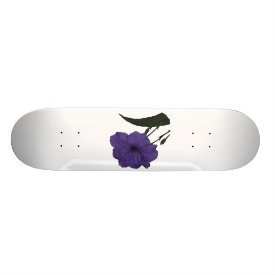 Mexican Petunia cutout flower Skateboard