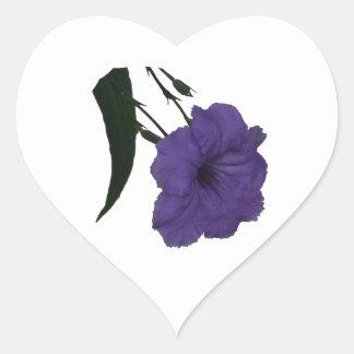 Mexican Petunia cutout flower Heart Stickers
