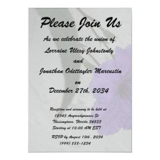 "Mexican Petunia  flower 5"" X 7"" Invitation Card"