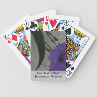 Mexican Petunia  flower Bicycle Playing Cards