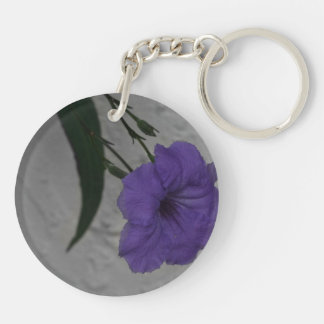 Mexican Petunia  flower Double-Sided Round Acrylic Keychain