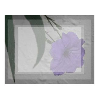 Mexican Petunia  flower Letterhead