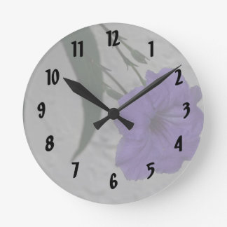 Mexican Petunia  flower Round Clock