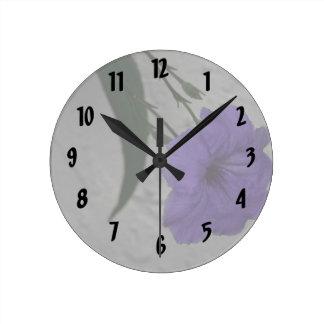 Mexican Petunia  flower Round Clock
