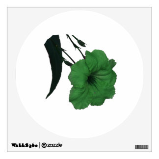 Mexican Petunia green colorized flower Wall Decal