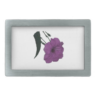 Mexican Petunia pink colorized flower Belt Buckle