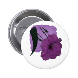 Mexican Petunia pink colorized flower Pinback Button