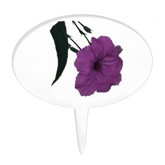 Mexican Petunia pink colorized flower Cake Topper