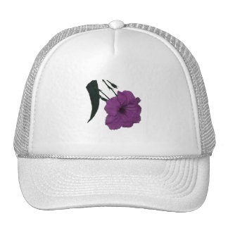 Mexican Petunia pink colorized flower Mesh Hats