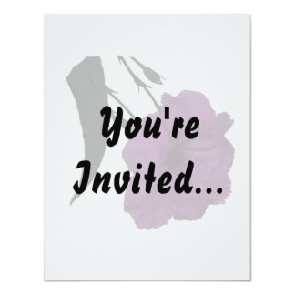 """Mexican Petunia pink colorized flower 4.25"""" X 5.5"""" Invitation Card"""