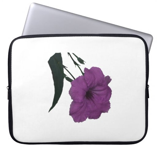 Mexican Petunia pink colorized flower Laptop Computer Sleeve