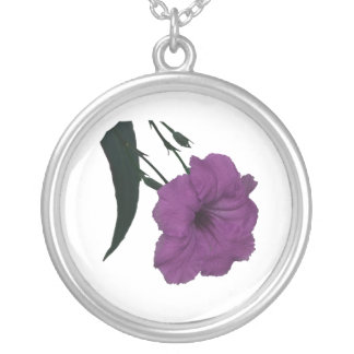 Mexican Petunia pink colorized flower Necklace