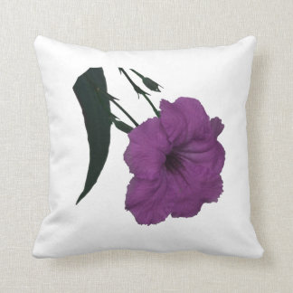 Mexican Petunia pink colorized flower Pillow