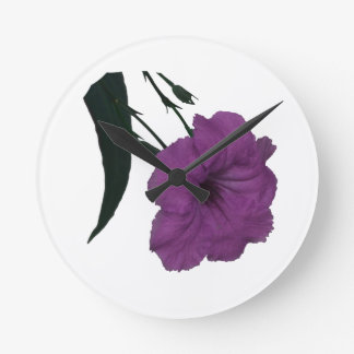 Mexican Petunia pink colorized flower Wall Clocks
