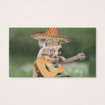 mexican pig - pig guitar - funny pig business card