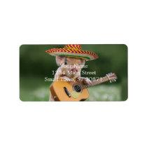 mexican pig - pig guitar - funny pig label
