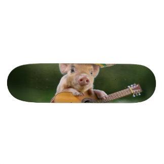 mexican pig - pig guitar - funny pig skateboard deck