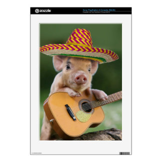 mexican pig - pig guitar - funny pig skin for the PS3 console
