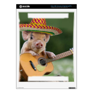 mexican pig - pig guitar - funny pig xbox 360 decal