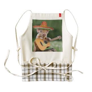 mexican pig - pig guitar - funny pig zazzle HEART apron