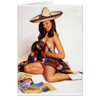 Mexican Pin Up Card