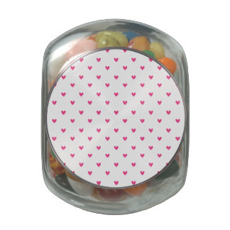 Mexican Pink Glitter Hearts Pattern Jelly Belly Candy Jar