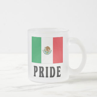 Mexican Pride 10 Oz Frosted Glass Coffee Mug