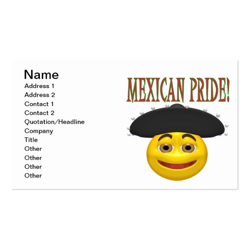 Mexican Pride Business Card Templates