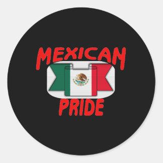 Mexican pride classic round sticker